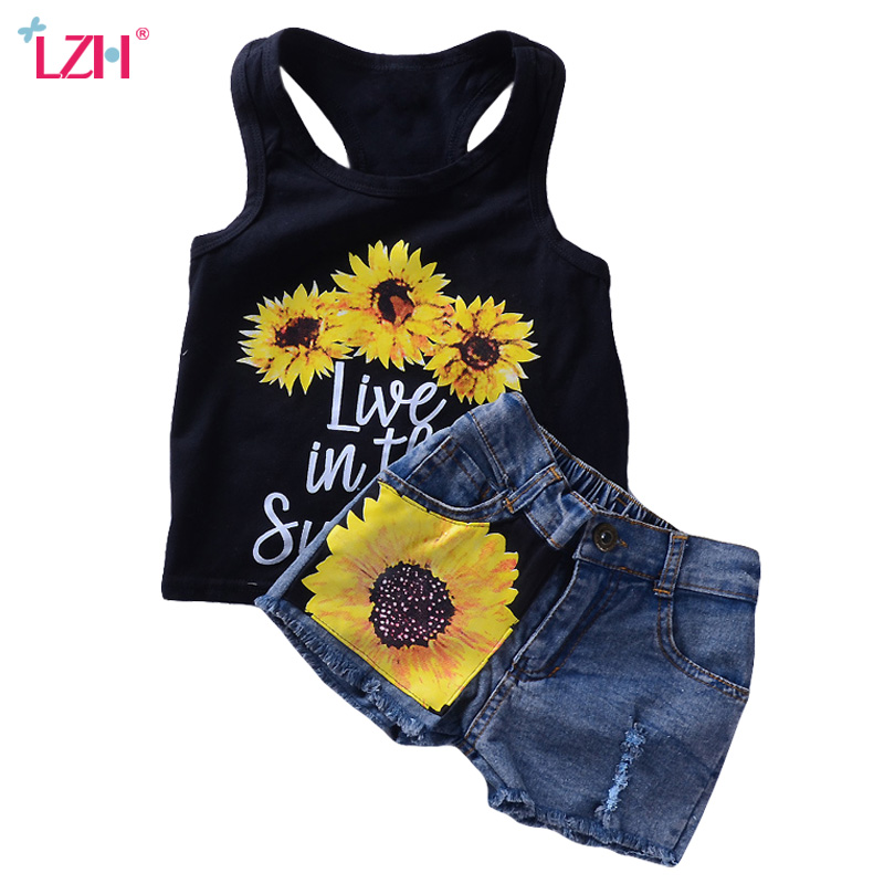 Children Clothing 2019 Summer Toddler Girls Clothes T-shirt+Shorts 2pcs Outfits Kids Clothes Sport Suit For Girls Clothing Set