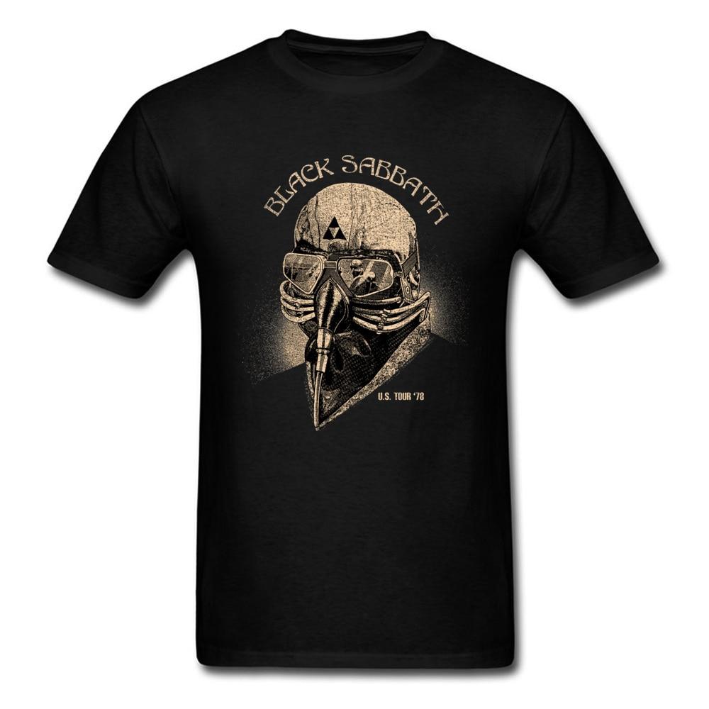 Men Tops Black Sabbath Streetwear Mens T-shirt Gas Mask Tshirt Print Vintage T Shirts Retro Design Adult Clothes Cotton