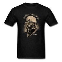 Men Tops Black Sabbath Streetwear Mens T-shirt Gas Mask Tshirt Print Vintage T S