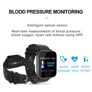 Image 3 - 13 Cal inteligentny zegarek pulsometr Sport inteligentny bransoletka pomiar podczas snu wodoodporny Smartwatch nadgarstek dla IOS Android