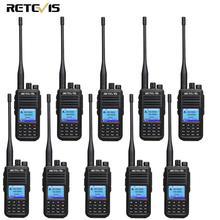 10 шт. Retevis RT3S двухдиапазонный DMR радио цифровая рация gps DCDM TDMA любительский радио Hf трансивер