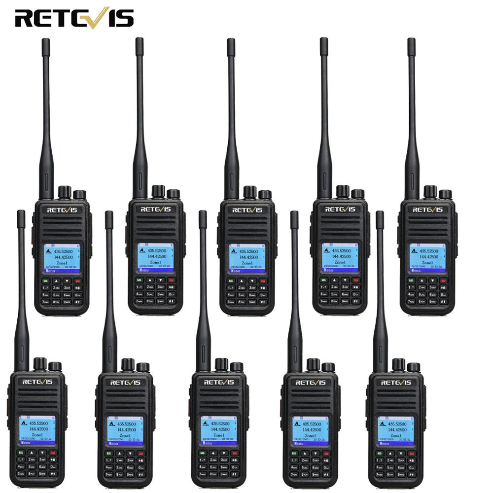 10pcs Retevis RT3S Dual Band DMR Radio Digital Walkie Talkie GPS DCDM TDMA Amateur Radio Hf Transceiver