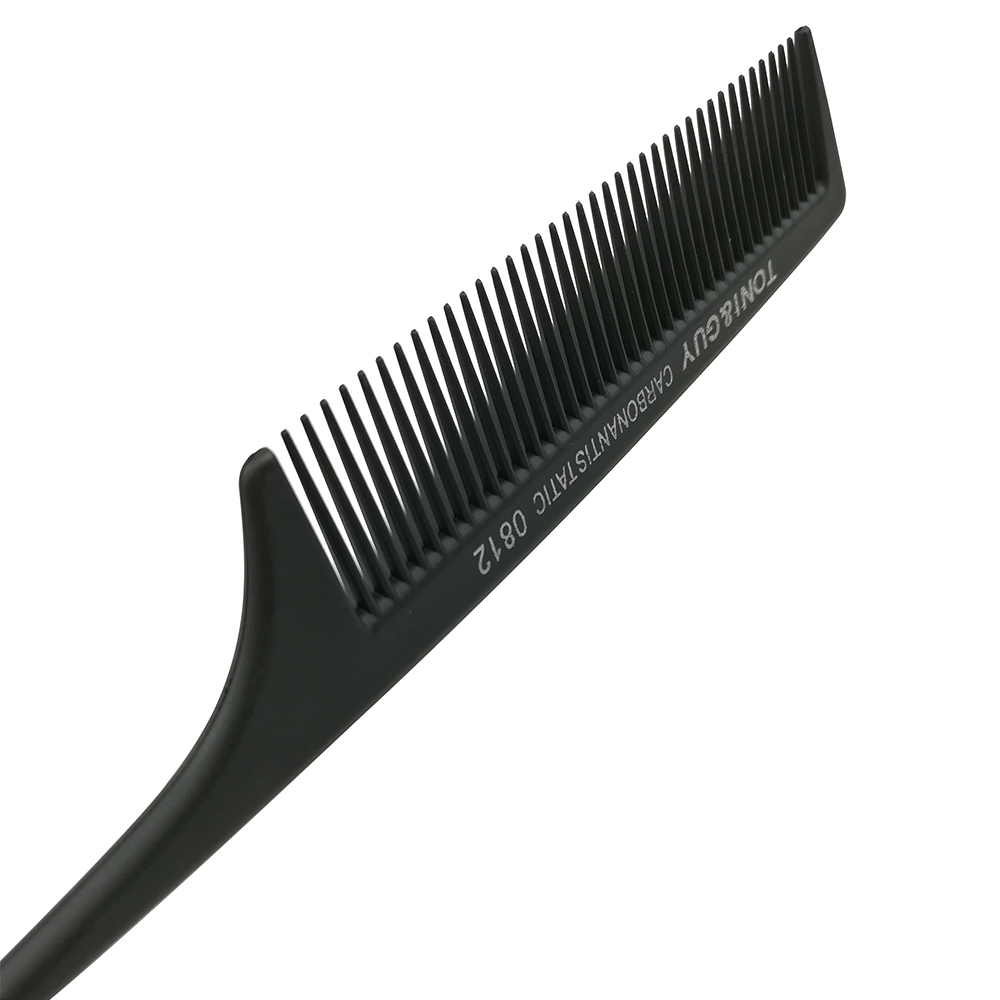 1 Piece Hairdressing Hair Comb Anti-static Carbon Hair Brush Professional Salon Hair Styling Tools Stainless Steel Handle Brush