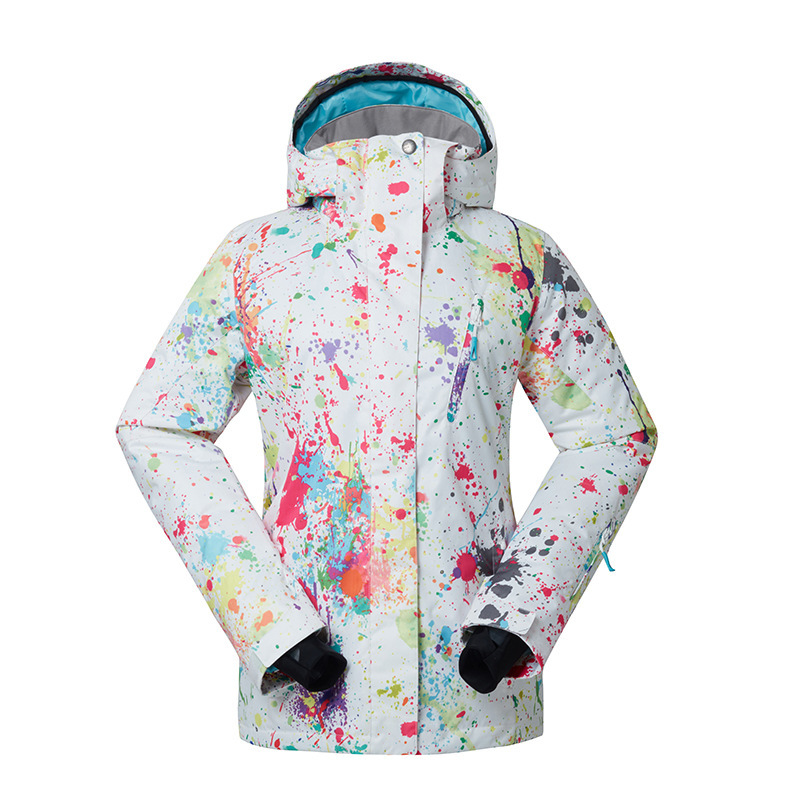 GSOU SNOW new lady ski suit single board skiing clothing female outdoor Wear-resistant breathable ski suit for women