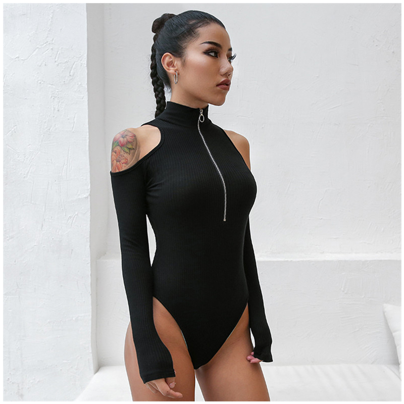 Turtleneck Long Sleeve Sheer Bodysuit for Women