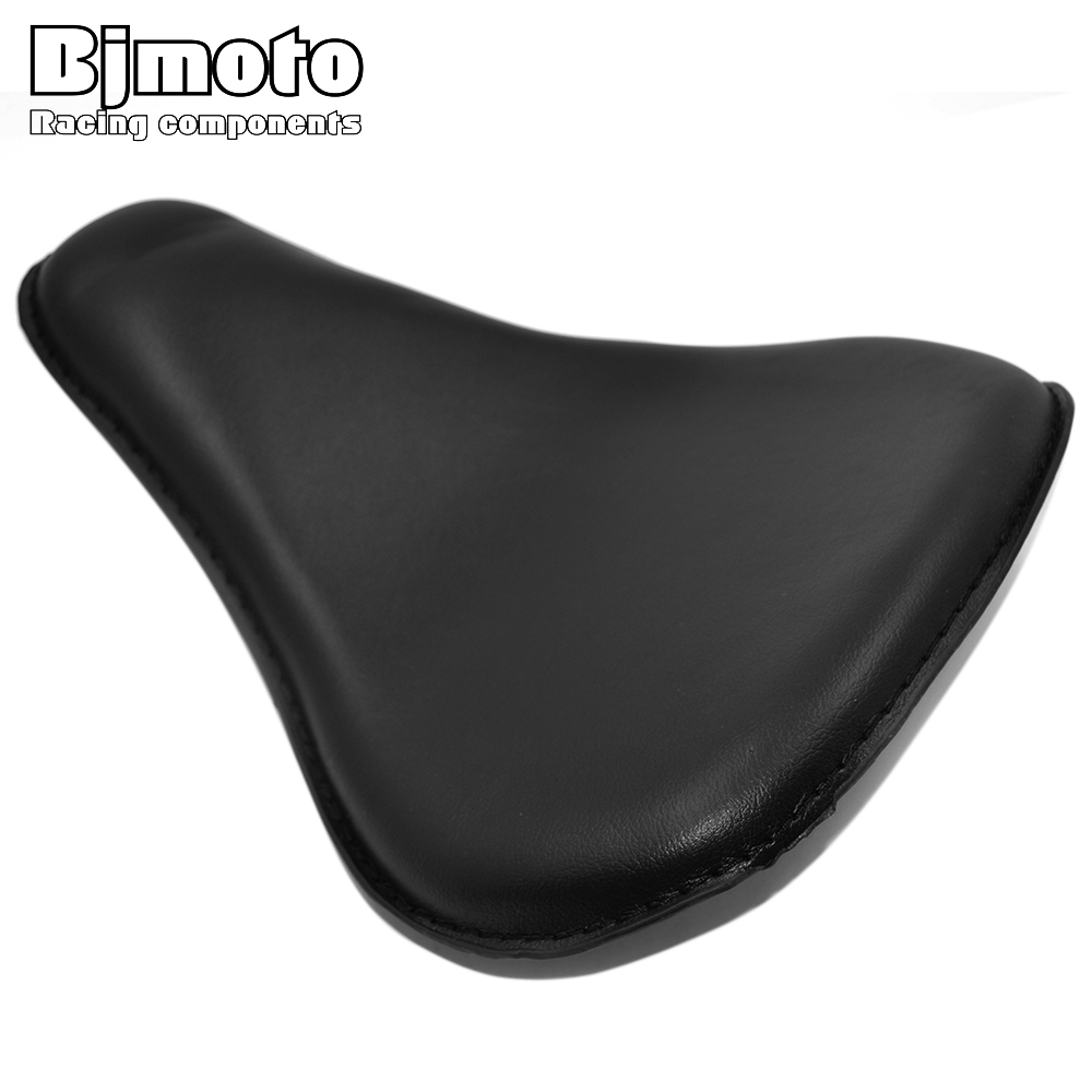 Bjmoto motorbike Motorcycle Leather Vintage Solo Slim Seat Large pad ...