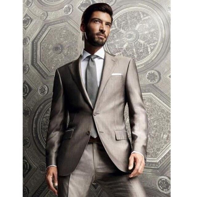 2016 New Custom 2 Piece Sim Fit Best Man Suits Brown Groomsman Men's Wedding/Prom Suits