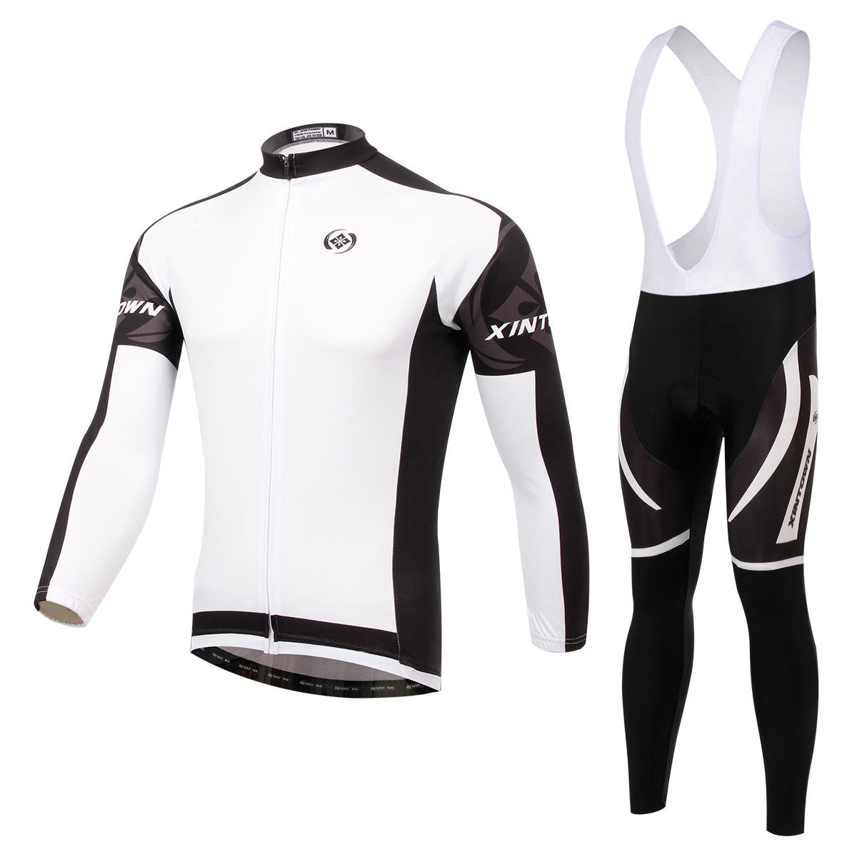 XINTOWN Dimon white bike riding jersey long sleeve suit wear cycling suits fleece wind warm functional underwear