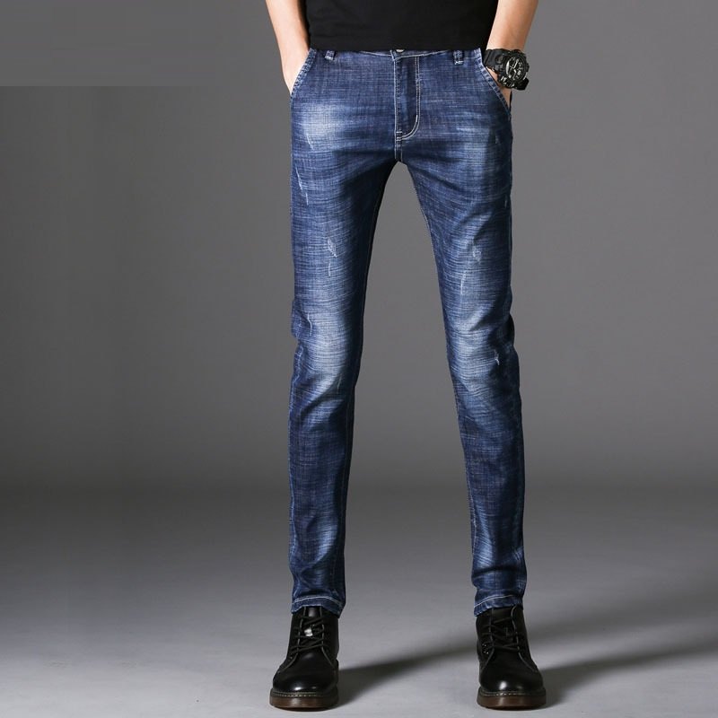 ICPANS Jeans Men Stretch Straight Cotton Denim Autumn Spring Casual Black Skinny Jeans Men Slim Fit 2018 New Fashion