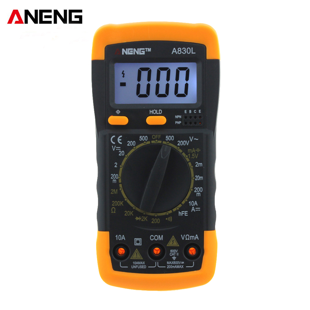 ANENG A830L digital multimeter LCD Digital Multimeter DC AC Voltage Diode Freguency Multitester digital multimeter tm86