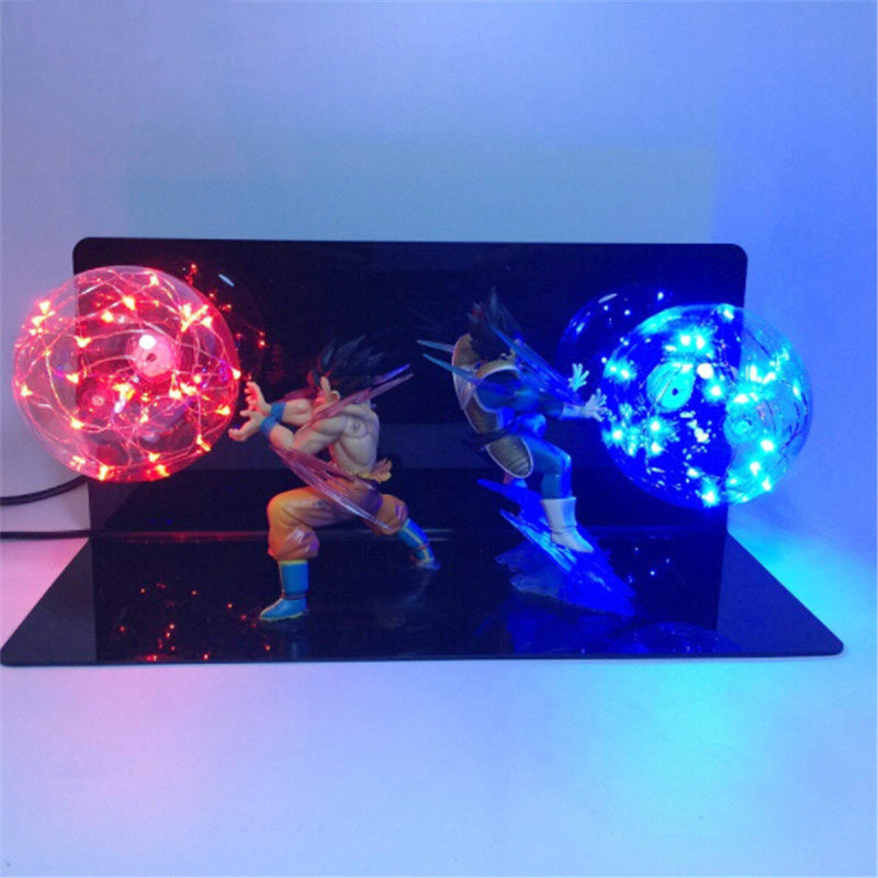 Hearty Dragon Ball Z Vegeta Son Goku Super Saiyan Fighting Together Led Lighting Anime Dragon Ball Z Vegeta Goku Model Toy Dbz Numerous In Variety Toys & Hobbies