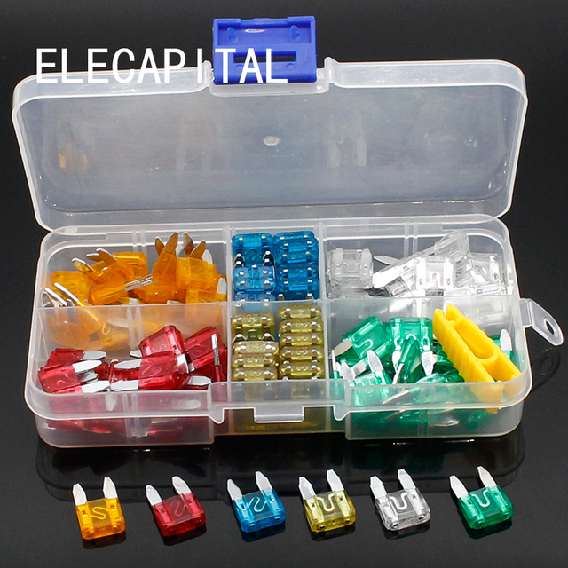 120pcs New mini Auto Automotive Car Boat Truck Blade Fuse Box Assortment 5A 10A 15A 20A 25A 30A