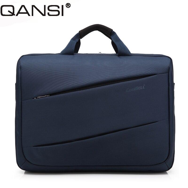 Fashion style men messenger bag 17 inch laptop bag solid color notebook computer shoulder bag ...