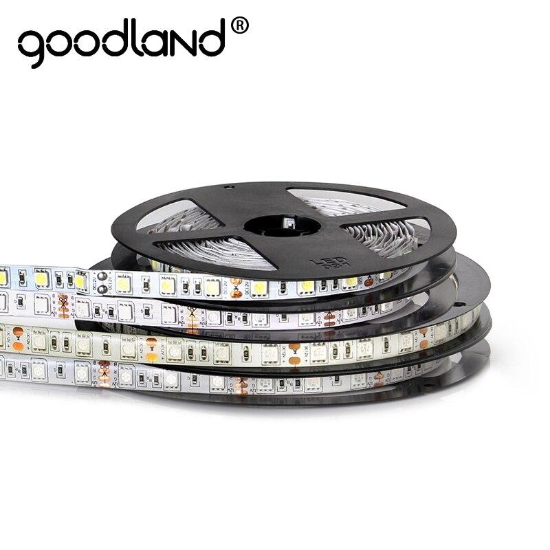 LED Strip RGB Waterproof 5M DC12V 60LEDs/m SMD5050 LED Light Single Color Flexible Ribbon LED Tape