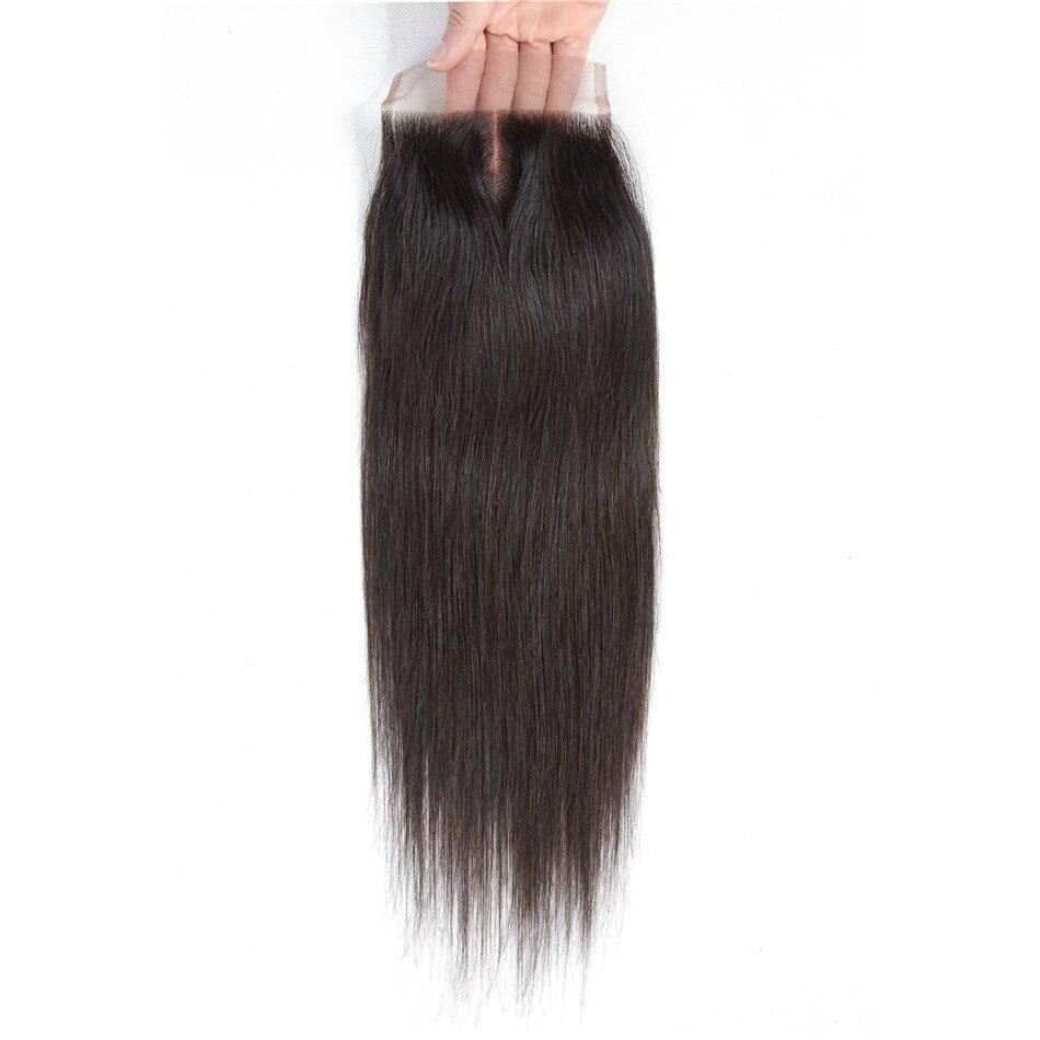 HTB1Mv1go TI8KJjSsphq6AFppXaZ Straight Human Hair 3 Bundles With Closure Tuneful 100% Remy Hair Weft Weave Extensions Brazilian Hair Bundles With Closure