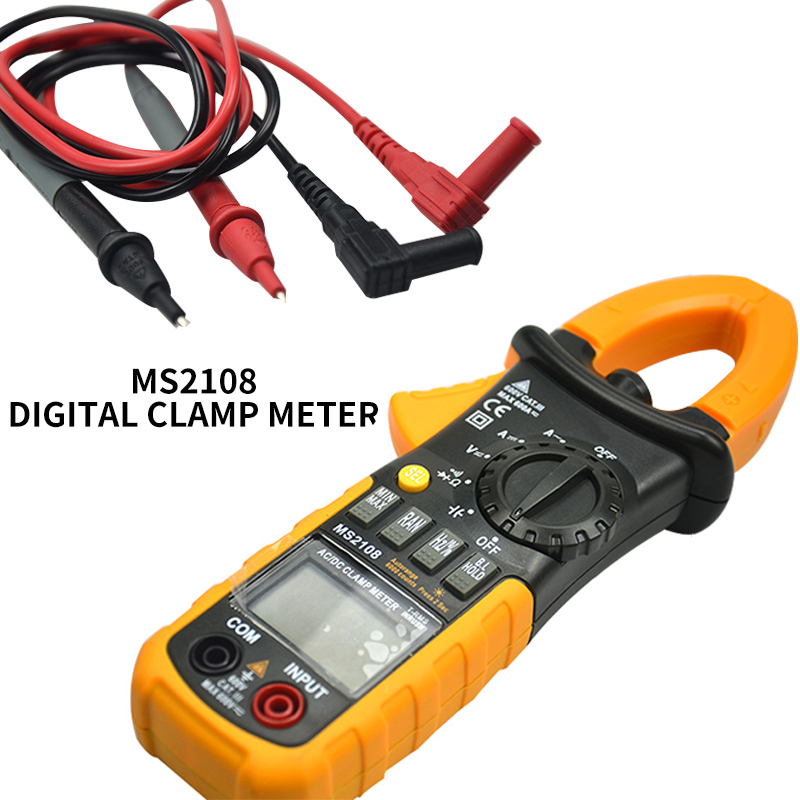 Mastech MS2108 Digital Clamp Meter True RMS LCD Multimeter AC DC Voltmeter Ammeter Ohm Herz. Duty Cycle Multi Tester emporio armani куртка