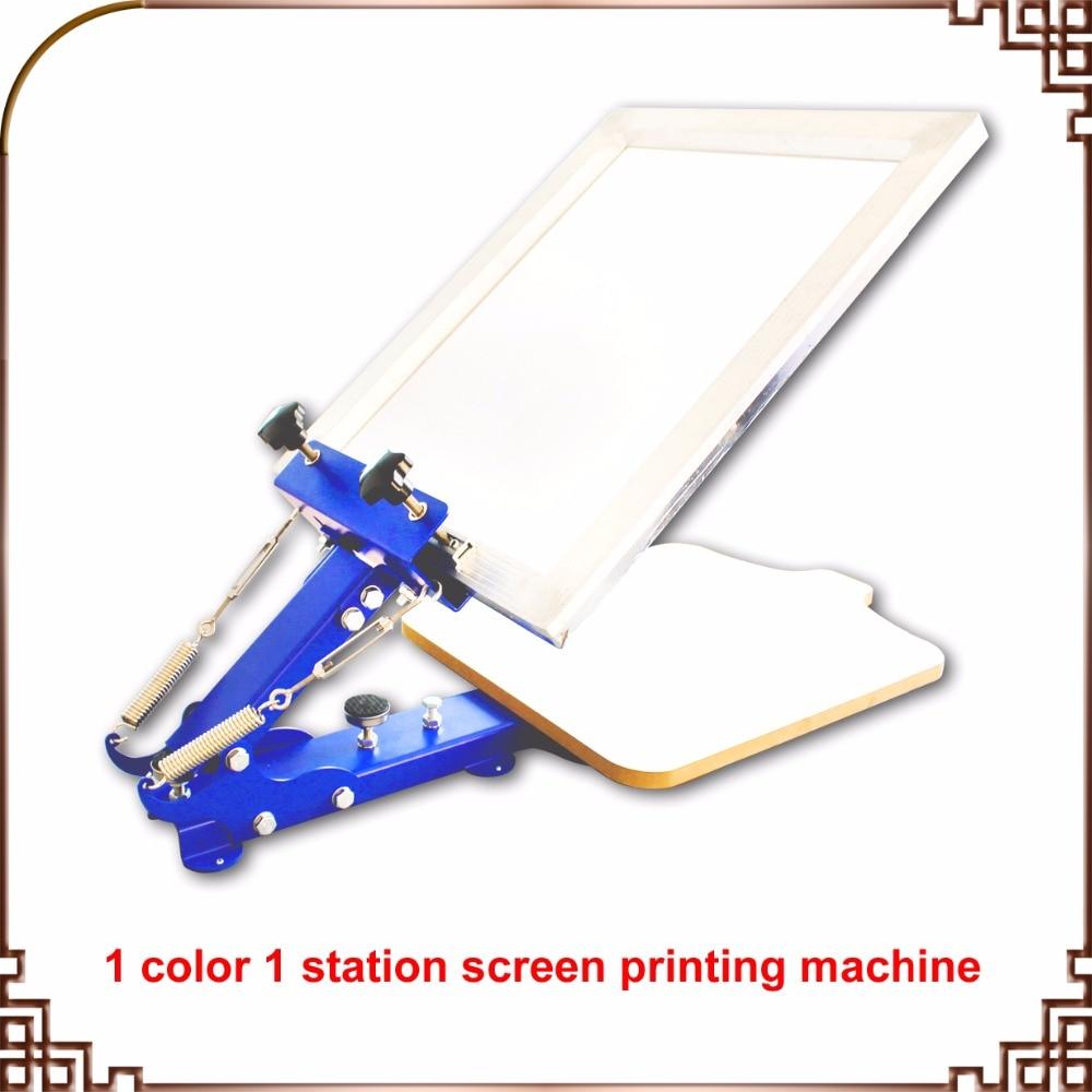 1 COLOR SCREEN PRESS single color screen printing manual desktop screen printing machine
