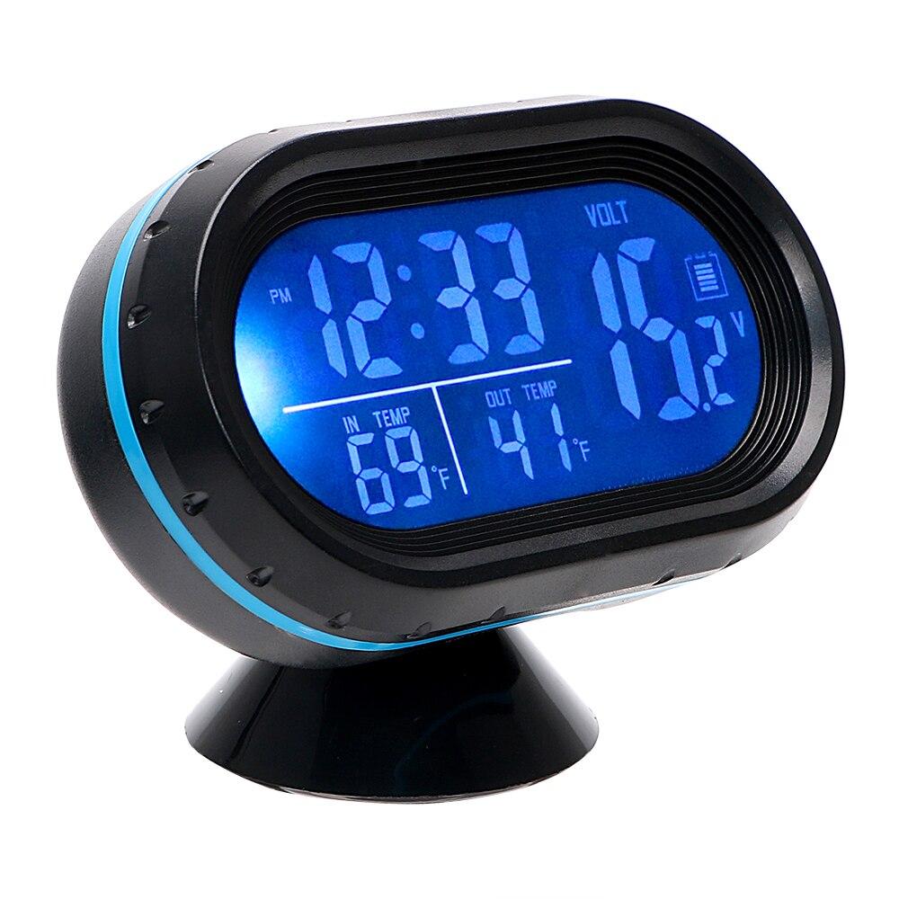 termometro con orologio digitale per auto orologio digitale da auto con termometro Mini orologio da cruscotto del veicolo BIOBEY Orologio da auto 1PC