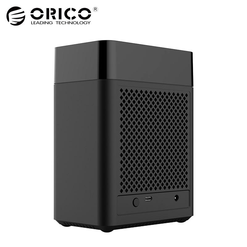 ORICO Double Bay Magnétique-type 3.5 pouce Type-C Dur Boîtier de Disque USB3.1 Gen1 5 Gbps HDD Cas support UASP 12V4A Puissance MAX 20 tb