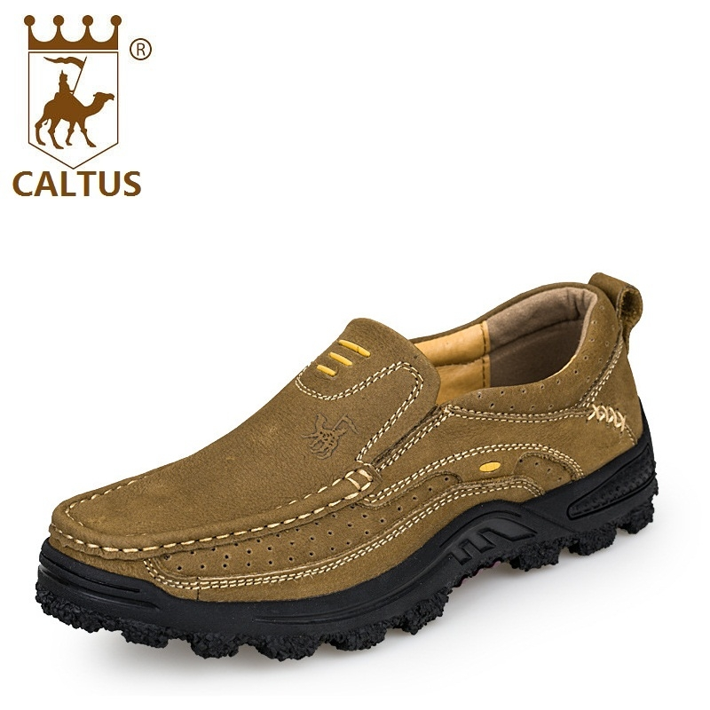 CALTUS Casual Shoes High Quality Flats Genuine Leather Men Working Shoes Size 38-44 AA20527