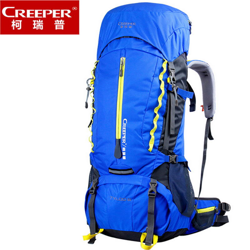 цены  Creeper Outdoor Sport Bag Camping Hiking Waterproof Backpack Daypacks Mountaineering Bag 60L Trekking Rucksack with Rain Cover