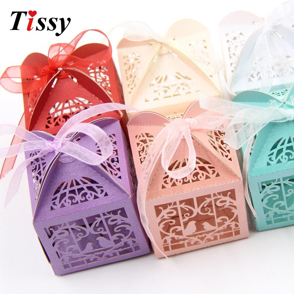 25PCS DIY Birds Candy Box Wedding Favors Paper Gift Box Handmade ...