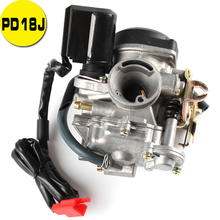 18mm PD18J Carb Carburetor For GY6 50CC 139QMB 139QMA Scooter Jonway 50cc Stock motorcycle scooter carb carburetor 50cc chinese gy6 139qmb moped 49cc 60cc for sunl baja accessories