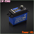 Power HD LF-20MG LW-20MG 20KG Digital Servo HM Cars Aerial Robot Head and Futaba RC Helicopter Boat Car Better Waterproof