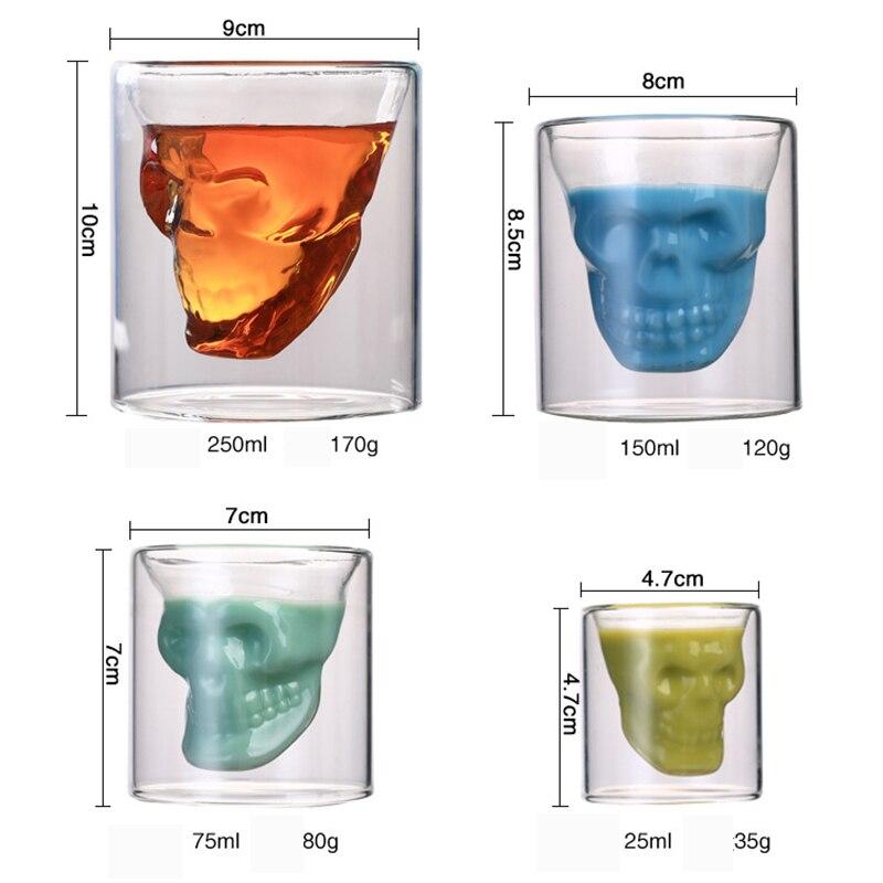 Skull Transparent Beer Red Wine Whiskey Glass  1
