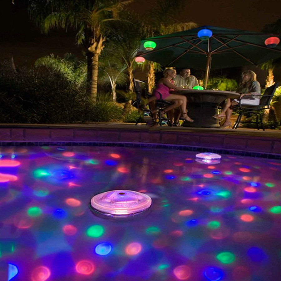 RGB LED Under water Light Solar Power Pond Swimming Pool Floating ...
