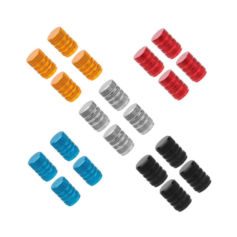 4pcs Aluminum Alloy Car Tire Wheel Tyre Caps Valve Stem Dust Covers Motorcycle Bicycle Car Tire Valve Caps Car-styling