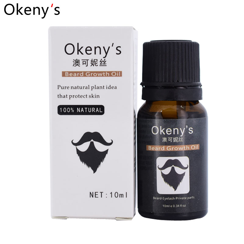 Okenys 2pcs Beard Growth Oil Beard Growth Spray Hair Loss Products Essential Oil Natural Herbal Extracts No Side Effect