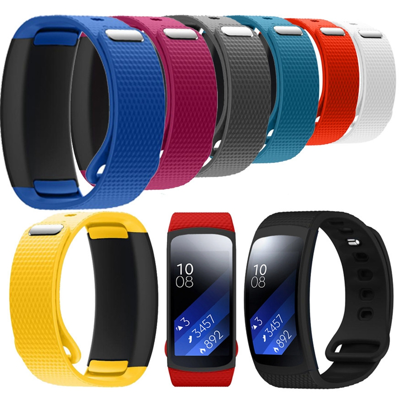 S Size Luxury Silicone Watch Replacement Band Strap For Samsung Gear Fit 2 SM-R360 Wristband Strap length 145-195mm for Woman