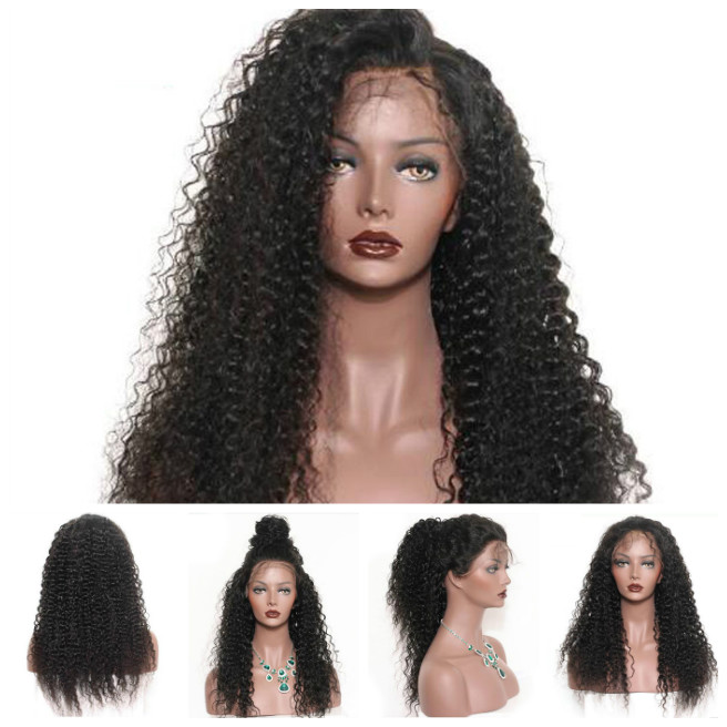 Ladies Sexy Styling Accessories Long Kinky Curly Wavy Cosplay Full Wig Black Wigs Artificial Hair Personality Girls Gifts H7JP shipping hot new black white long curly cosplay full wig two pigtails