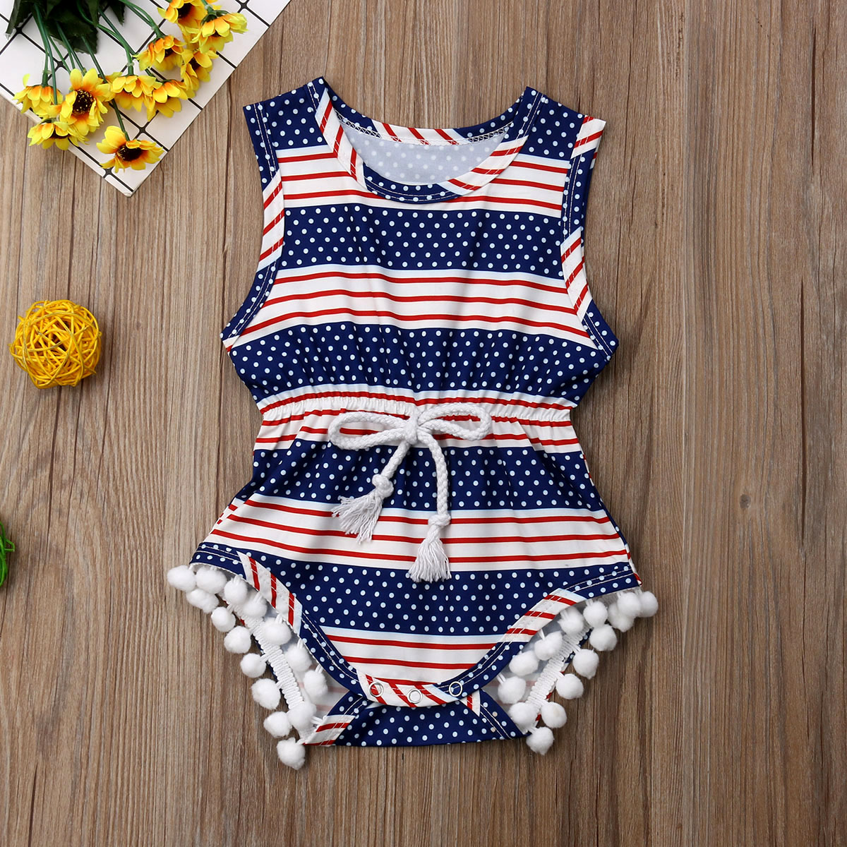 Infant Newborn Baby Girls 4th of July Romper Bodysuit Jumpsuit Clothes OutfitsInfant Newborn Baby Girls 4th of July Romper Bodysuit Jumpsuit Clothes Outfits