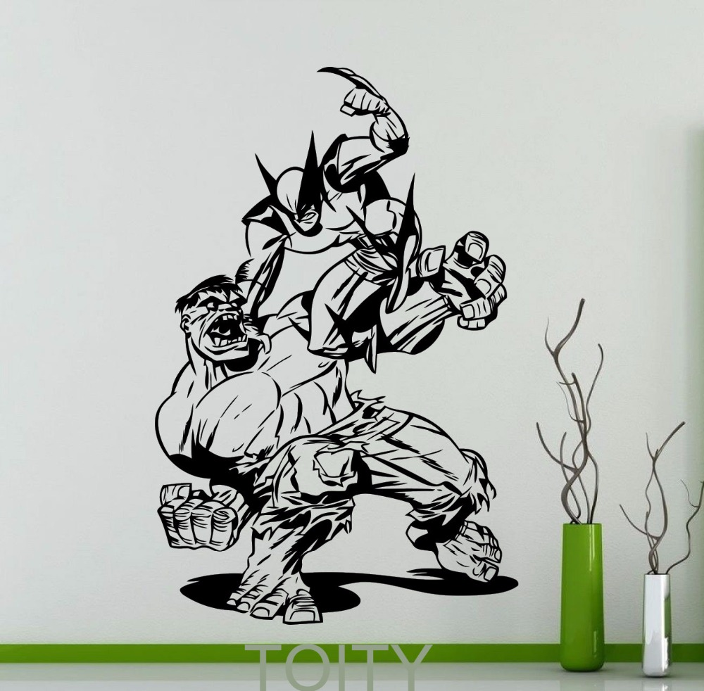 Online Get Cheap Hulk Stickers Aliexpresscom Alibaba Group - Superhero vinyl wall decals