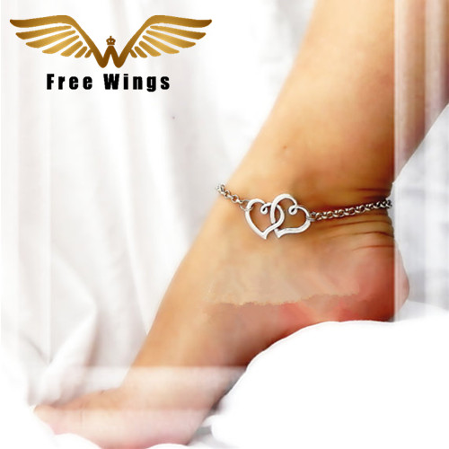 Heart Anklet Double Love Ankle Bracelet Feet Barefoot Sandals Anklets For Women Beach Foot Jewelry Leg Chain Accessories In From