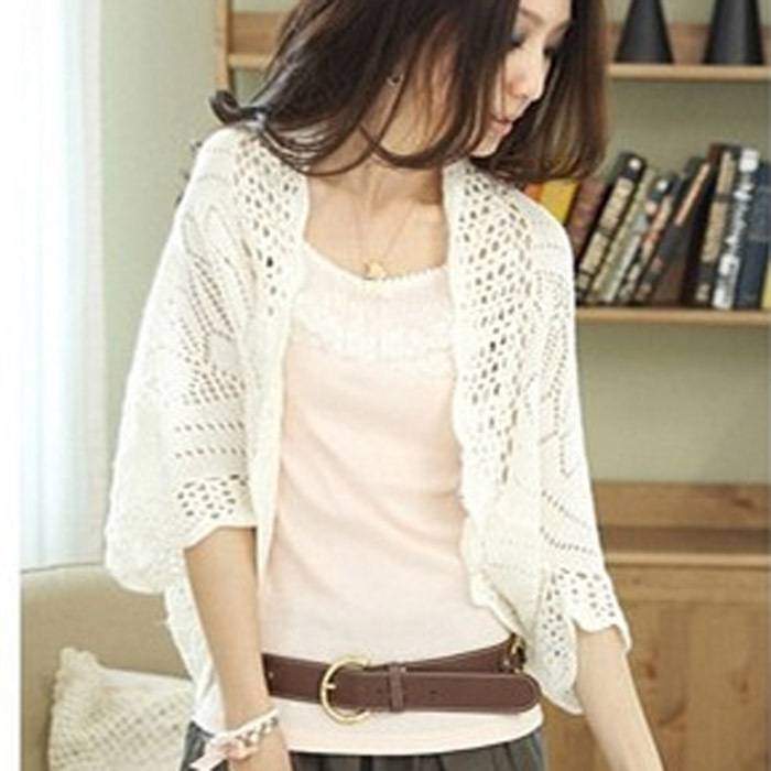 Casual Ladies Cardigans 2015 Women Summer Crochet Sweaters ...