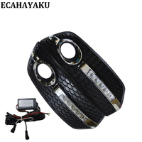 Car Styling DRL Daytime Running Light DC 12V Car Lights Waterproof Light Fog Driving Lamp Bright