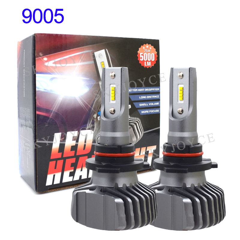 SKYJOYCE H4 LED Headlight Bulb H7 LED H1 H11 9005 HB3 9006 HB4 ZES Chips 50W 10000LM 6500K Car Light Auto LED Headlamp Bulbs 12V (2)