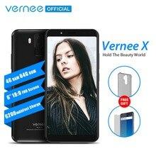 Vernee X 6.0 Inç 18:9 FHD Tam Ekran Smartphone 4G LTE Yüz KIMLIĞI 4 GB RAM 64 GB ROM MTK6763 Octa Çekirdekli 16.0 MP 6200 mAh Ce...