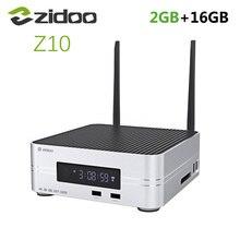 """Zidoo TV Box Z10 con Android 7,1, 1000M, LAN, 4K, HDR, receptor inteligente Realtek RTD1296, 2GB de RAM, 16GB de ROM, compatible con HDD de 3,5 """", reproductor multimedia"""