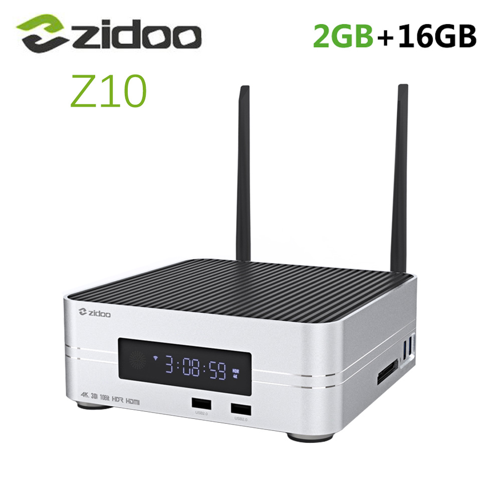 "Zidoo Z10 Android 7.1 TV Box 1000M LAN 4K HDR Smart Set Top Box Realtek RTD1296 2GB RAM 16GB ROM Support 3.5"" HDD Media Player"