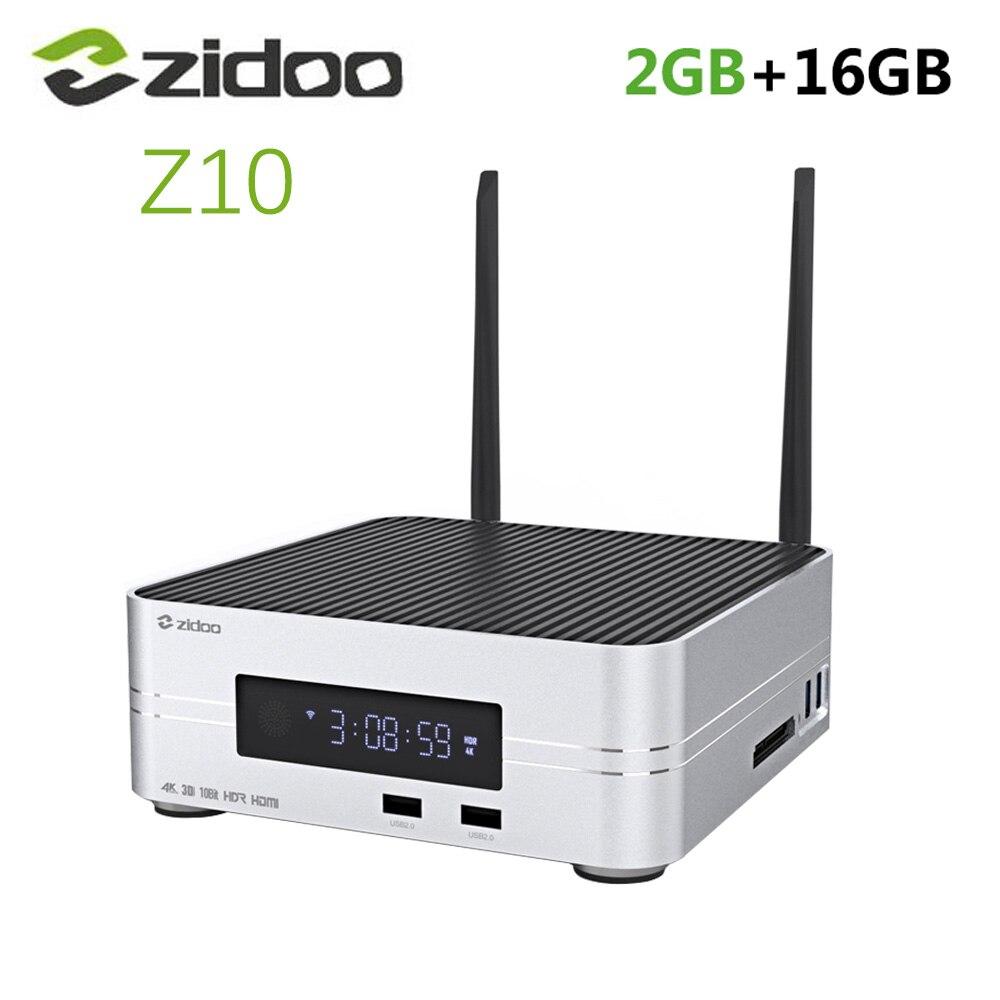 Zidoo Z10 Android 7.1 TV Box 1000M LAN 4K HDR Smart Set-Top Box Realtek RTD1296 2GB RAM 16GB ROM Unterstützung 3,5