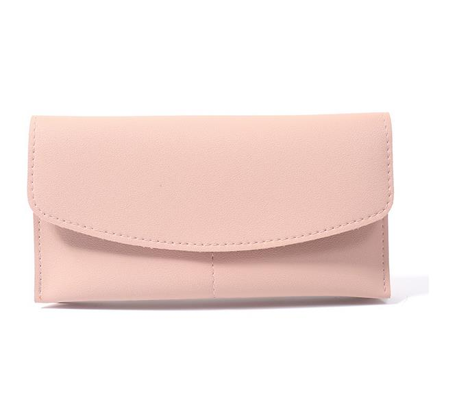 Luxury Soft Leather Women Wallets PU Leather Buckle Wallet Two Fold Long Designer Female Purse Famous Brand Casual Girls Wallet