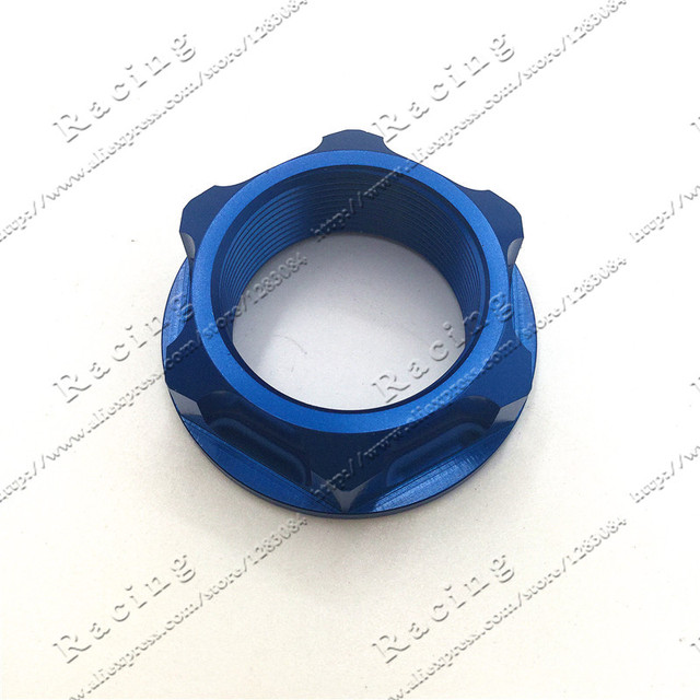 CNC Billet Steering Stem Nut For YZ125 YZ250 YZ250F YZ450F YZ400 426F YZ250X YZ250FX WR250F WR450F Dirt bike Off Road Motocross