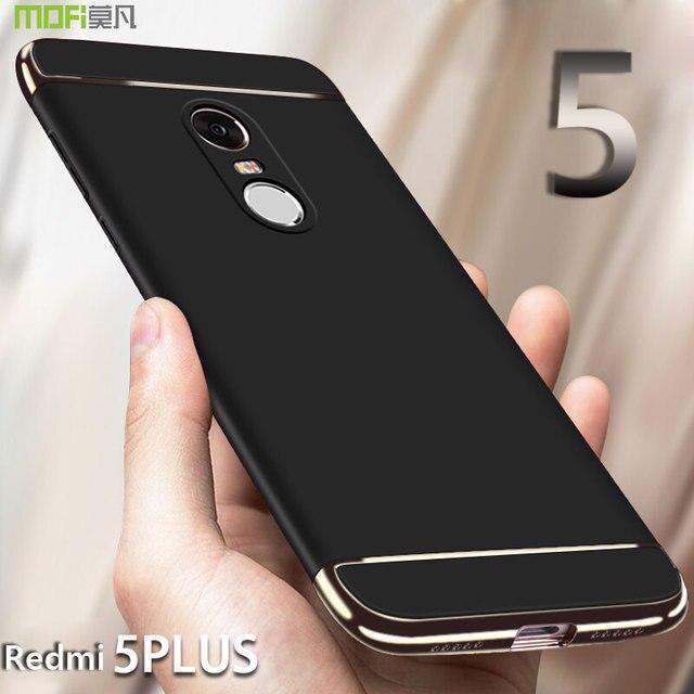 newest collection 4455f 37fec US $8.69 13% OFF|For Xiaomi Redmi 5 Plus Case MOFi Redmi 5Plus Back Cover  Case redmi note 5 Full Cover 3 in 1 Hard PC Case For Redmi 5 Plus 5.99-in  ...