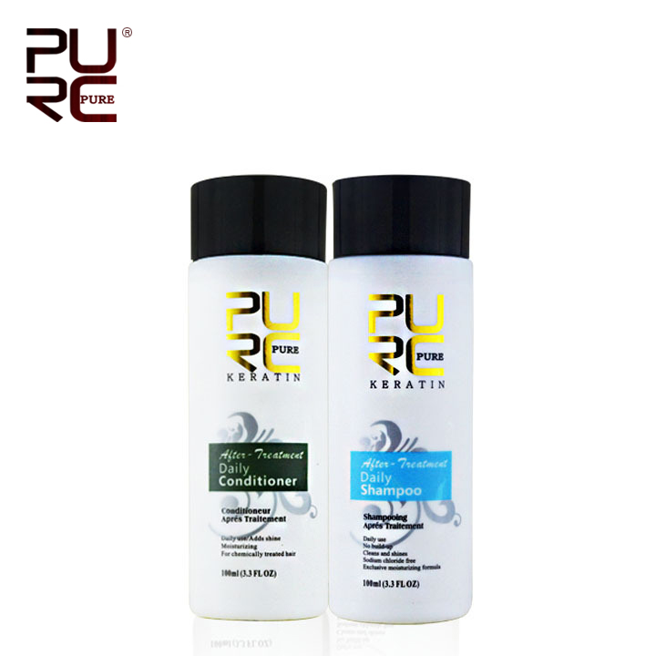 PURE شامبو الشعر وبلسم الشعر منتجات العناية بالشعر المهنية 2 قطعة مجموعة واحدة لعلاج الكيراتين حرية الملاحة