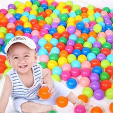 100pcs / lot Eco-friendly Colorful Soft Plastic Water Pool Ocean Wave Ball Baby Funny Toys For Childern Stress Air Ball Outdoor недорого