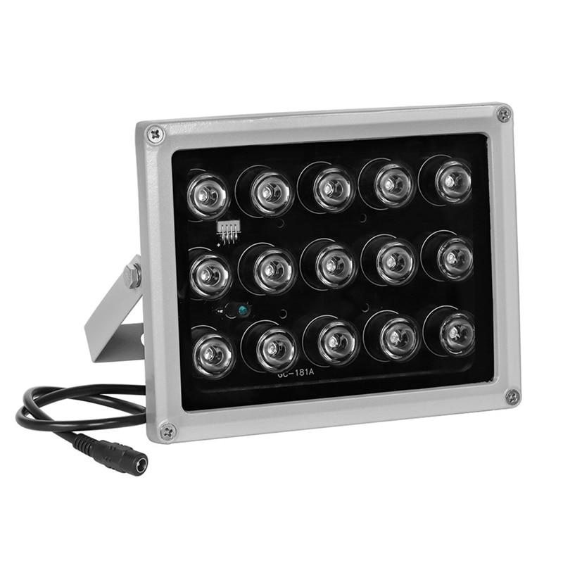 New CCTV LEDS 15 Array IR LED illuminator infrared lamp 850nm Waterproof Night Vision CCTV Fill Light For CCTV Camera ip camera